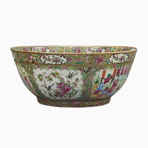 19th-Century Cantonese Famille Rose Porcelain Bowl, 1880s