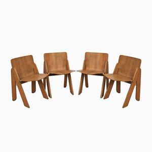 Esszimmerstühle von Gigi Sabadin für Stilwood, 1970er, 4er Set