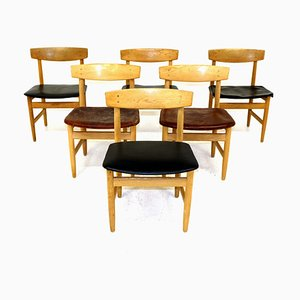 Oak Dining Chairs by Børge Mogensen, 1960s, Set of 6