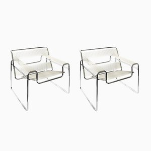 Marcel Breuer Wassily Style Chairs, 1980s, Set of 2