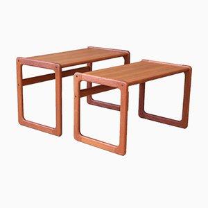 Teak Side Tables, 1970s, Set of 2