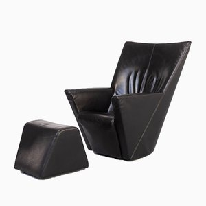 Armilla Lounge Chair & Ottoman by Burkhard Vogtherr for Arflex, 1990s, Set of 2