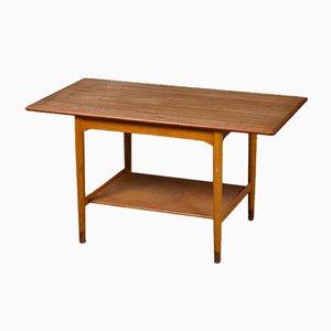 Teak and Oak Coffee Table by Børge Mogensen for Søborg Møbelfabrik, 1950s