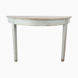 Gustavian Grey Painted Console Table, 1840s