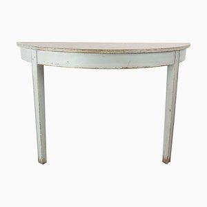 Table Console Gustavienne Peinte en Gris, 1840s
