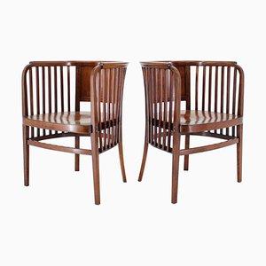 Holzstühle von Marcel Kammerer für Gebruder Thonet, 1910er, 2er Set