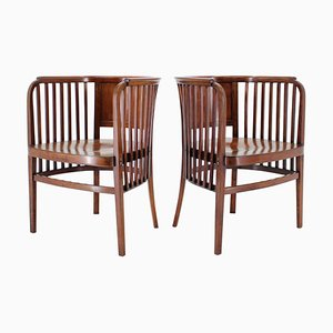 Wooden Chairs by Marcel Kammerer for Gebruder Thonet, 1910s, Set of 2