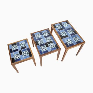 Ceramic Nesting Tables, Denmark, 1960s
