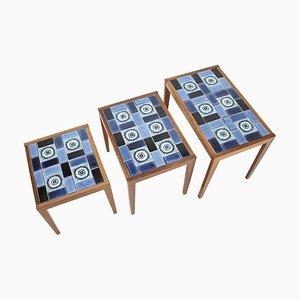 Tables Gigognes en Céramique, Danemark, 1960s