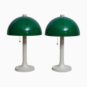 Fiberglass Table or Desk Lamps from Falkenbergs Belysning, Sweden, 1970s, Set of 2