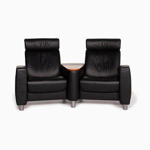 Arion Leather 2-Seat Sofa in Black from Stressless
