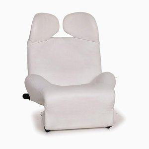 Wink Leather Armchair in White fromCassina
