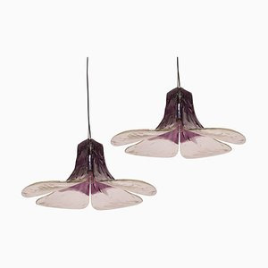 Purple Pendant Lamp Model LS185 by Carlo Nason for Mazzega