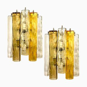 Large Wall Sconces or Wall Lights in Murano Glass from Barovier & Toso, Set of 2
