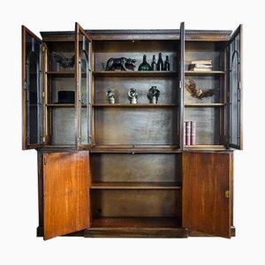 Britisches Vintage Bücherregal in Braun