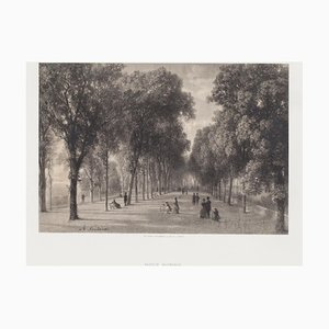 Antonio Fontanesi - Innenraum von Geneve - Original Lithographie - 19. Jahrhundert