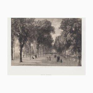 Litografia originale Antonio Fontanesi - Interior of Geneve - XIX secolo