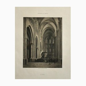 Antonio Fontanesi - Interior of Geneve - Original Lithograph - 19th Century