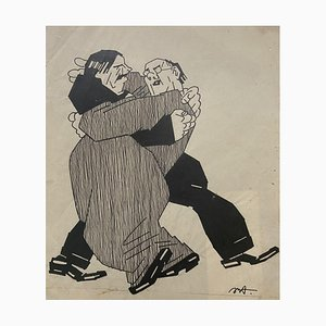 Desconocido - El abrazo - Tinta china - Principios del siglo XX