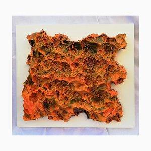 Gianluca Foglietta - Orange Flames - Técnica mixta original - 2018