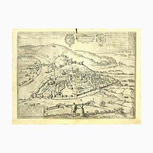 Franz Hogenberg - Vista de Namur (bélgica) - Grabado - Finales de 1500