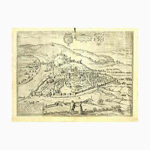 Franz Hogenberg - Vue de Namur (Belgique) - Eau-forte - Fin 1500