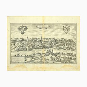 Franz Hogenberg - View of Gorlitz - Etching - Late 16th Century