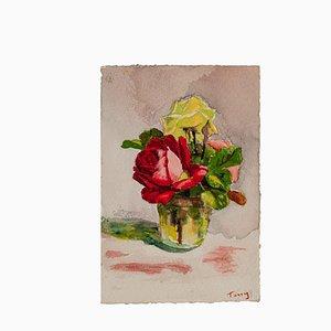 Desconocido - Flores - Dibujo original - Principios del siglo XX