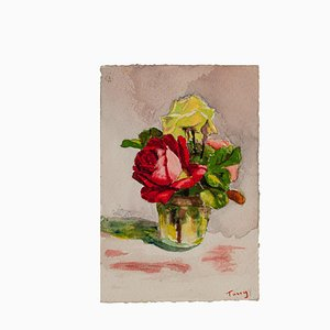 Unknown - Flowers - Original Drawing - Frühes 20. Jahrhundert