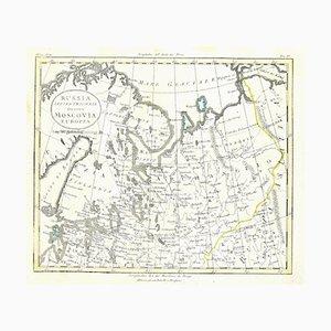 Desconocido - Mapa de Rusia - Grabado original - Finales del siglo XIX