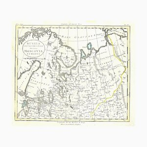 Unknown - Map of Russia - Original Etching - Late 19th Century