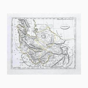 Desconocido - Mapa de Persia - Grabado original - Finales del siglo XIX