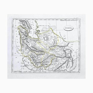 Inconnu - Carte de la Perse - Gravure originale - Fin du XIXe siècle
