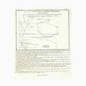 Unbekannt - Karte von Südamerika - Original Radierung - Ende des 19. Jahrhunderts
