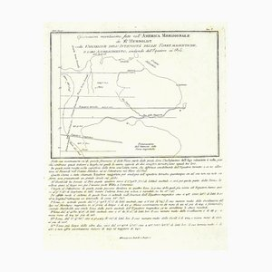 Unknown - Karte von Südamerika - Original Radierung - Spätes 19. Jahrhundert