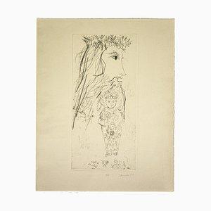 Gian Paolo Berto - King David - Original Etching on Paper - 1975