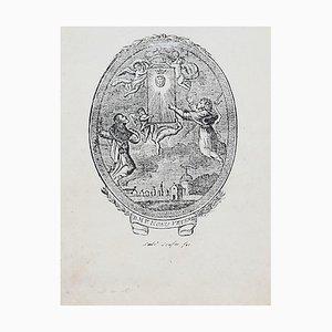 Unknown - Allegorical Sublime - Original Radierung - 19. Jahrhundert