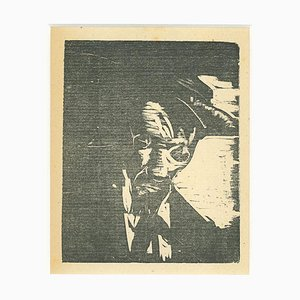 Lorenzo Viani - Drunk - Original Woodcut - 1930