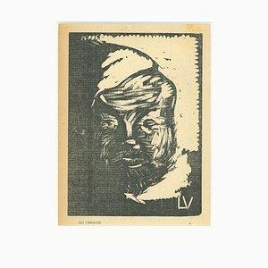 Lorenzo Viani - Ivre - Gravure sur bois originale - 1930