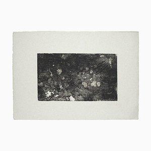 Margherita Benetti - Composición en blanco y negro - Grabado original - 1972