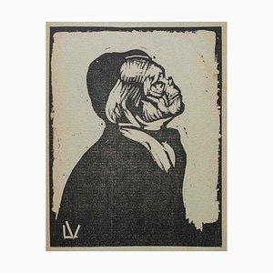 Lorenzo Viani - Anciana - Xilografía original - 1930