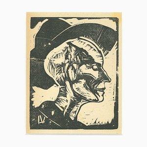 Lorenzo Viani - Retrato - Xilografía original - 1930