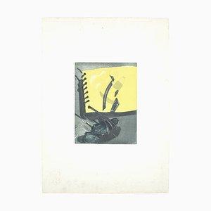 Italo Scelza - Komposition - Originalradierung von Italo Scelza - 1977