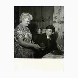 Inconnu - Portrait vintage de Gene Pitney avec sa mère - 1960