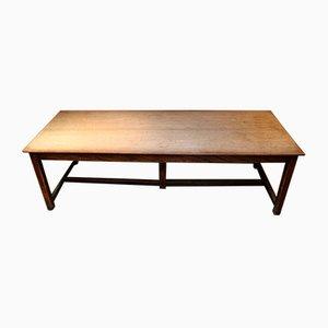 Grande table de réfectoire d'école en acajou clair