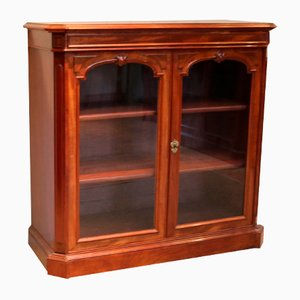 French Mahogany Glazed Bookcase