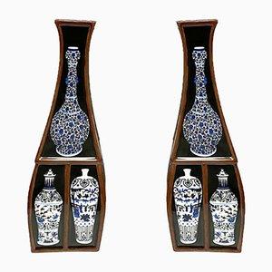 Vases by Fabienne Jouvin, 1980s, Set of 2