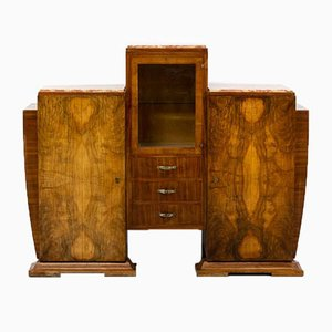 Art Deco Burl Walnut Cabinet, 1930s