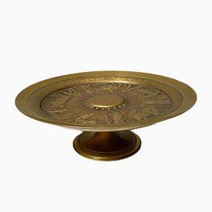 Pokal auf Sockel in Tondo Gilt Bronze von Ferdinand Barbedienne, 1850er Jahre