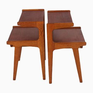 Danish Teak Bedside Tables, 1960s, Set of 2